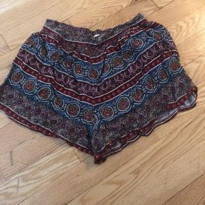 Abercrombie & Fitch Patterned  Flowy Shorts